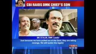 CBI raids DMK Chief's son M. K. Stalin.