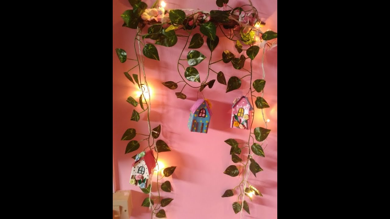 DIY Wall Decoration with Fruit Juice Packs - YouTube