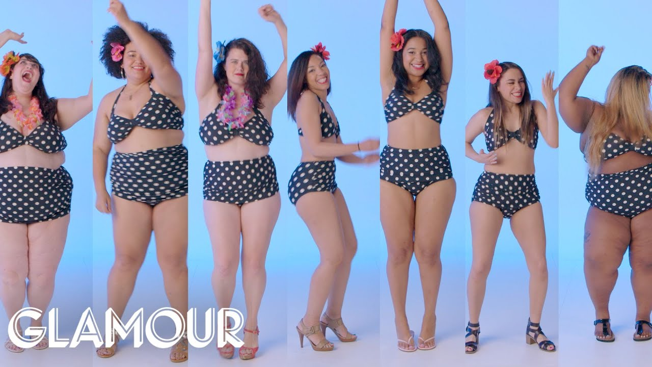 b3410f7976f8c Women Sizes 4–30 Try on the Same Swimsuit | Glamour - YouTube