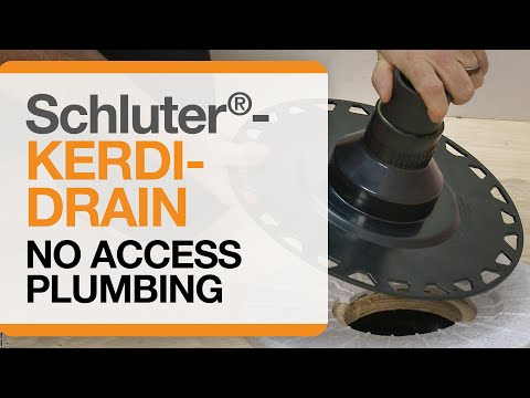 schluter®-kerdi-drain-installation-with-no-access-to-plumbing