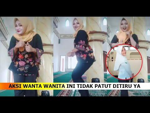 Video: Tiga ibu-ibu, joget dalam masjid
