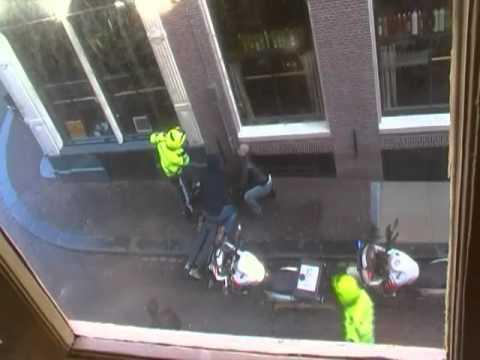 Criminal gets arrested in Amsterdam