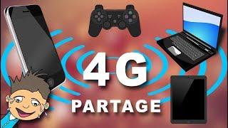 Partager une connexion 4G Android en WIFI USB Bluetooth vers PC...