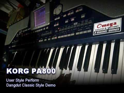 KORG PA800  User Style Dangdut Classic Demo