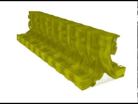 3D woven carbon fibre stringer
