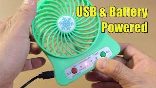 Review of Folote 3-speed Mini USB Fan