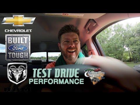 NEW Test Drive Versus Review | 2018 Ford F250 - RAM 2500 & Chevy Silverado LTZ | Performance & Power