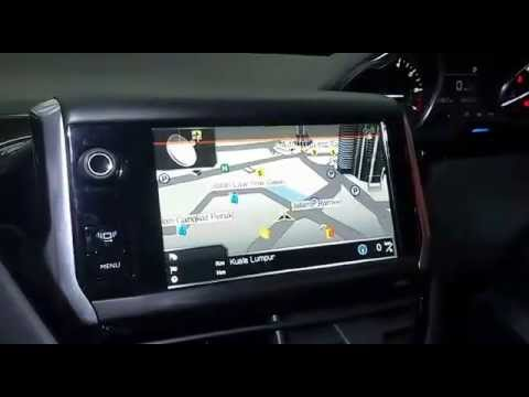 peugeot 208 papago gps navigation rear camera upgraded youtube. Black Bedroom Furniture Sets. Home Design Ideas