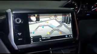 peugeot 208 papago gps navigation rear camera upgraded