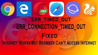 Internet Works But Browser Can't Access Internet - By Behindfacts