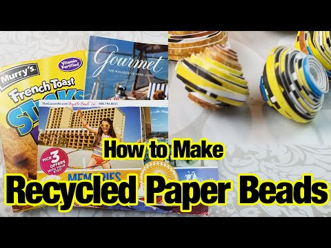 How to Make Paper Beads from Recycled Paper