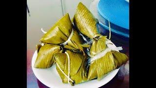 Làm bánh lá tro tại nhà vừa dễ làm lại thơm ngon (Vietnamese Banh Tro) - - Bếp Nhà Nội
