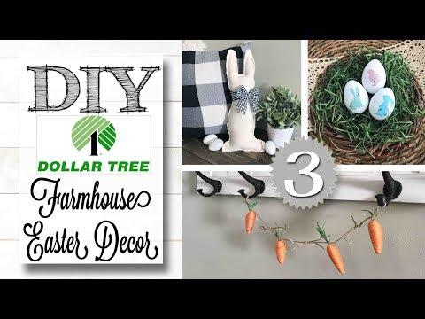 DIY Dollar Tree Easter Decor | FARMHOUSE STYLE