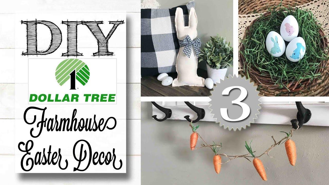 Diy Dollar Tree Easter Decor Farmhouse Style Youtube