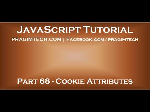 JavaScript cookie attributes