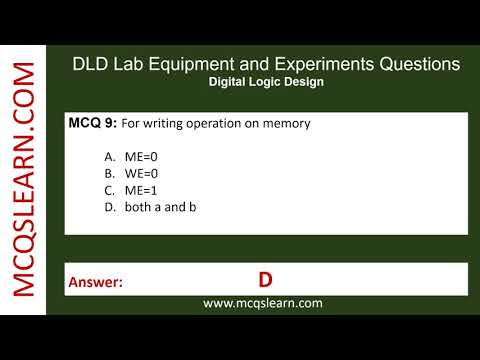DLD Lab Equipment And Experiments Questions - MCQsLearn Free Videos
