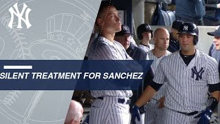 Gary Sanchez homers twice and gets the silent treatment