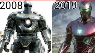 All Iron Man Suits in MCU (2008 - 2019) Mark 1 - Mark 50 [HD]