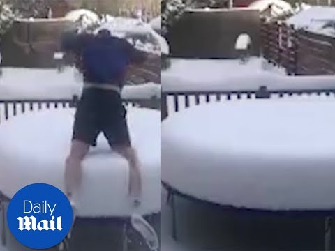 People Having a Fun Day in the Snow - Daily Mail