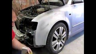 Audi A4  The fender repair  Ремонт крыла  1 mpeg2video