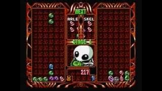 Puyo Puyo Two (2) Sega Saturn Import Gameplay