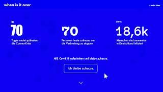 #wirvsvirushack When is iт over?0038_daten: Wie können wir Daten besser aufbereiten...(ID 1757)