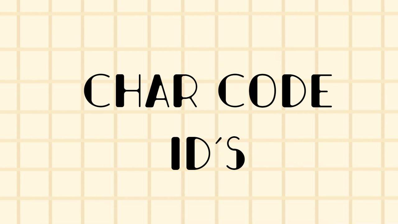 Char Codes Roblox | StrucidCodes.com