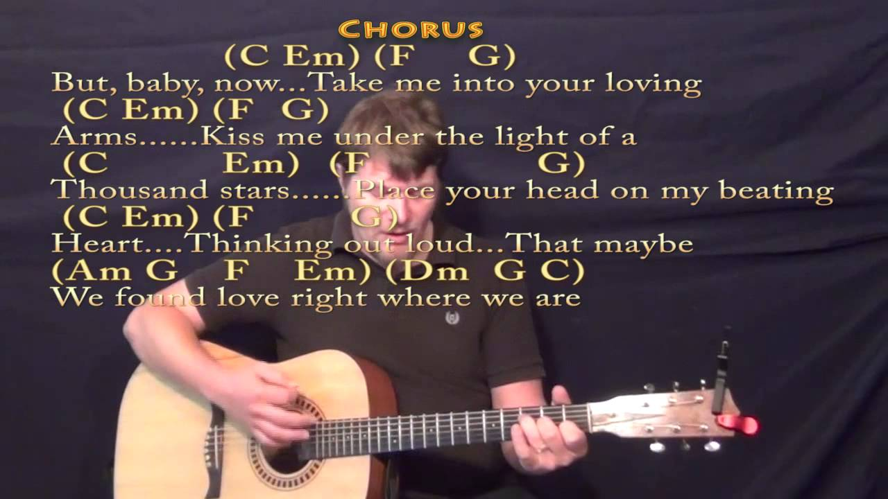 Thinking Out Loud (Ed Sheeran) Strum Guitar Cover Lesson with Chords/Lyrics - YouTube