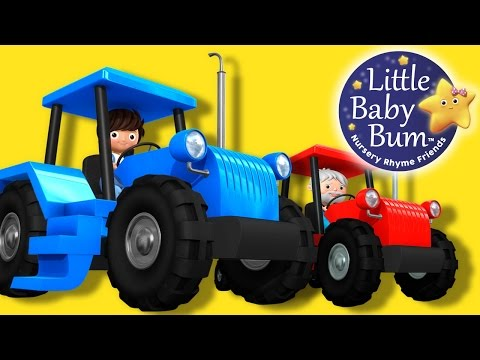 Tractor Song!  Nursery Rhymes  Original Song  LittleBaBum!