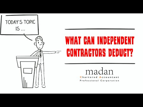 What can independent contractors deduct?