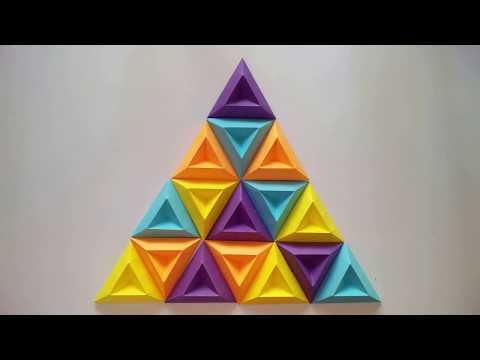 3D WALL ART   Design 2   Most Amazing 3D Wall Decor Ideas   Origami Art  