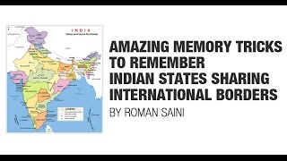 Tricks to remember Indian states with international borders {UPSC CSE/IAS, SSC CGL/CHSL, Bank PO}