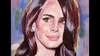 Lana Del Rey. Acrylic portrait.