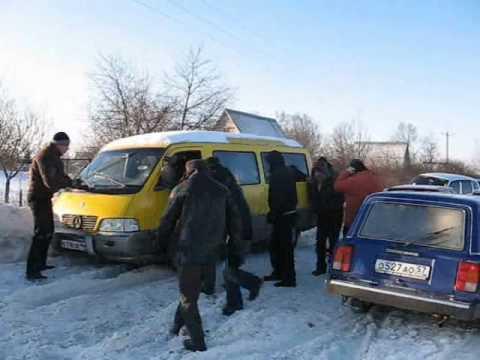 На выезде из Железногорска образовалась пробка