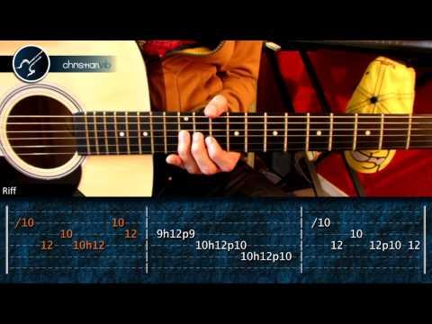 """Cómo tocar """"Triste Canción de Amor"""" de El Tri en guitarra acústica (HD) Tutorial - Christianvib"""