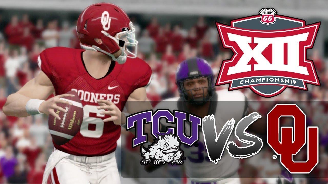 e2191de030e2ba NCAA Football Big 12 Championship -  3 Oklahoma Sooners vs  11 TCU Horned  Frogs (NCAA 14)