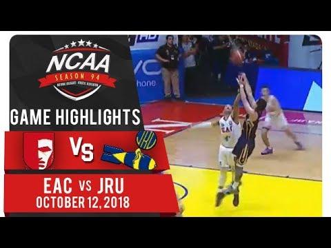 NCAA 94 MB: EAC vs. JRU | Game Highlights | October 12, 2018