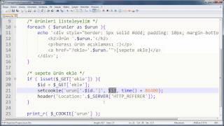 PHP ile Sepet Mantığı