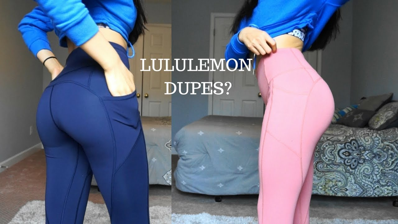 d3e52d7066 Lululemon Dupes/ Knockoffs?! | Yay or Nay? Til You Collapse Leggings Try On