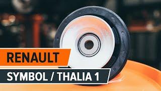 Montaż Poduszka Amortyzatora przednie i tylne RENAULT THALIA I (LB0/1/2_): darmowe wideo