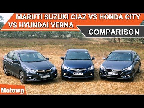 Maruti Suzuki Ciaz vs Honda City vs Hyundai Verna | Comparison Test | Motown India