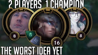 League of Legends but 2 people control 1 champion