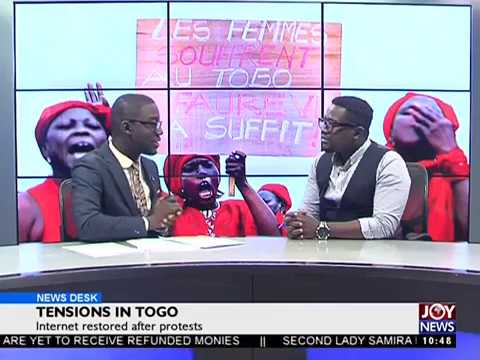 Tensions in Togo - News Desk on Joy News (14-9-17)