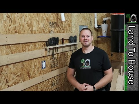 French Cleat System and Tool Storage - Build a Workshop #43