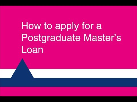 How to apply for a Postgraduate Master's Loan
