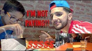NOT PAYING FOR THE DINNER PRANK!