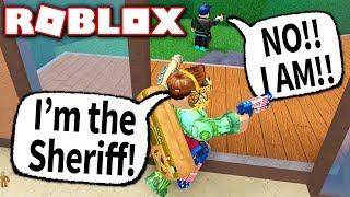 TROLLING WITH FAKE GUN PERK!! (Roblox Murder Mystery 2)