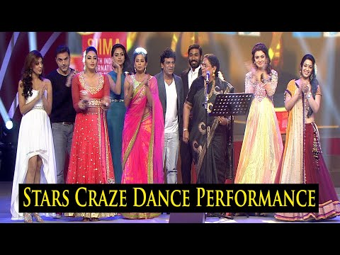 #siima : South Indian Stars Craze Dance Performance At SIIMA #UshaUthup