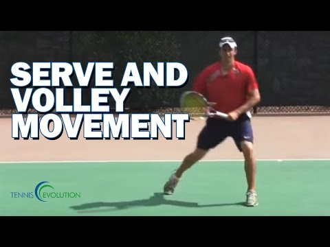 SERVE AND VOLLEY | How To Serve And Move Into The Volley
