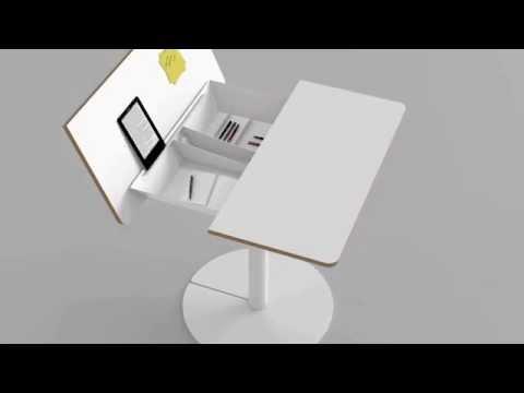 duotable : Der multifunktionale Tisch: Kleiner Küchentisch + Schreibtisch in einem